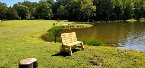 3 Benches at Edge of Pond