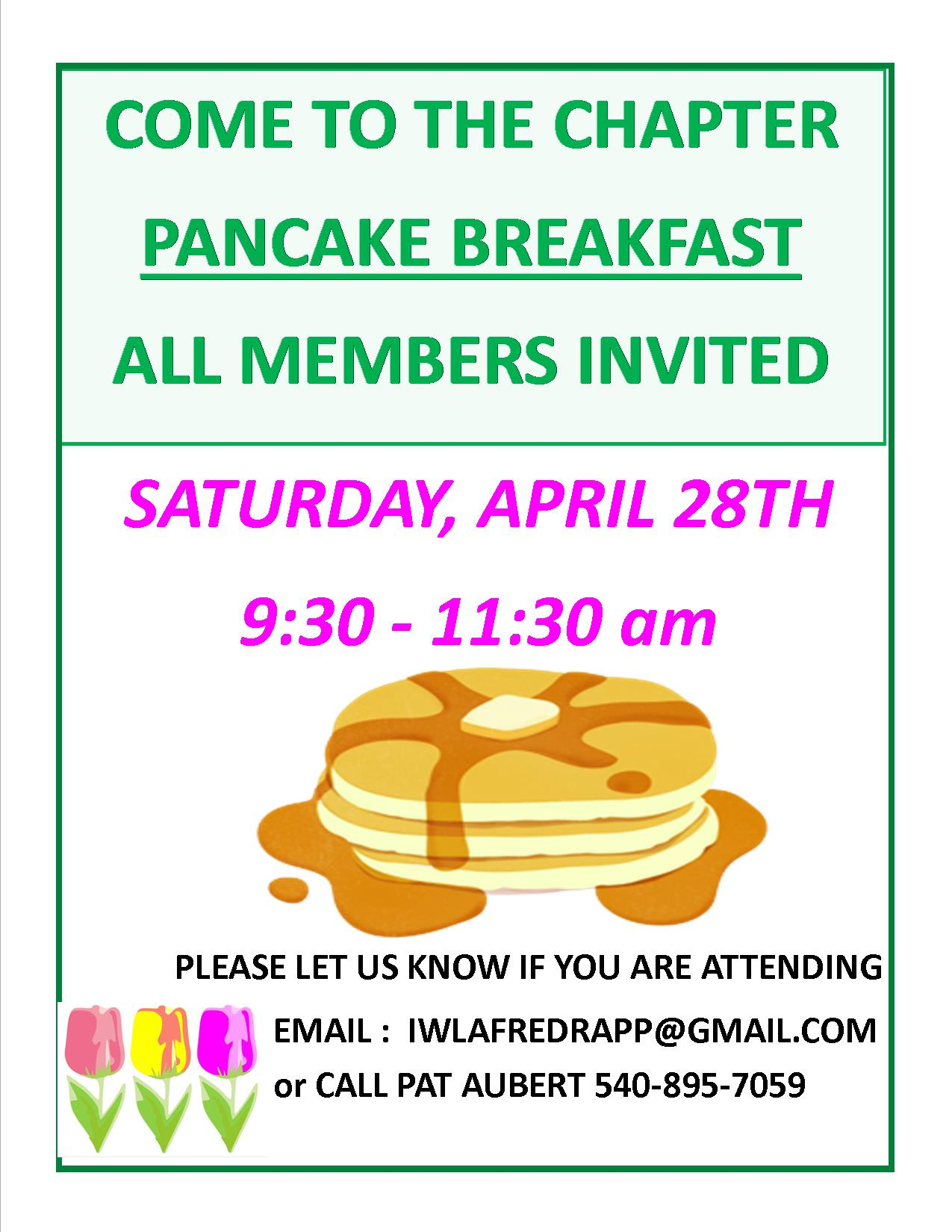 Poster for Member Pancake Breakfast
