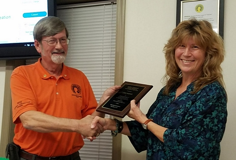 Award from Fredericksburg Parks and Recreation